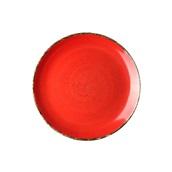 360D-FP-27 Πιάτο Ρηχό πορσελάνης, Φ27cm, Κόκκινο, σειρά 360, LUKANDA