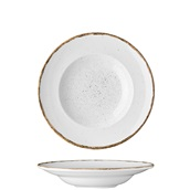 360W-PP-27 Πιάτο Ζυμαρικών πορσελάνης 27cm, Λευκό, σειρά 360, LUKANDA