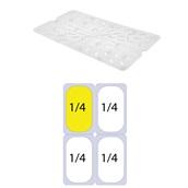 GNPPS-14 Σχάρα στραγγίσματος PP για Δοχεία Τροφίμων, GN1/4 (265x162mm)