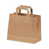 002.06.001 Χάρτινη Τσάντα Take-Away, με χεράκι και πάτο, χρώμα KRAFT, 22x11x24cm