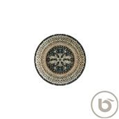 S-MT-MZPMBGRM19DZ Πιάτο Ρηχό πορσελάνης 19cm, Mesopatamia Black, Bonna
