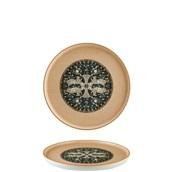 S-MT-MZPMWHYG22DZ Πιάτο Ρηχό πορσελάνης 22cm, Mesapotamia Wood, Bonna