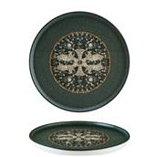 S-MT-MZPMAHYG28DZ Πιάτο Ρηχό πορσελάνης 28cm, Mesopotamia Black, Bonna
