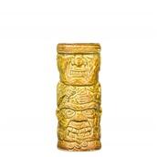 FACE-45/YEBR Κούπα Tiki 45cl, φ6.6x16.8cm, κιτρινο-καφέ, Πορσελάνης, Ελληνικής κατασκευής
