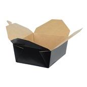 BKDBOX08/BLACK Χάρτινo κουτί Kraft (φάκελος), 16.9x13.7x6.5cm, ύψος 6.5cm, μιας χρήσης, Μαύρο