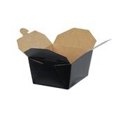 BKDBOX01/BLACK Χάρτινo κουτί Kraft (φάκελος), 13x10.6x6.5m, μιας χρήσης, Μαύρο