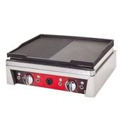 DRNPDIZE-50 Επιφάνεια Ψησίματος - πλατό, Λείο/Ραβδωτό, 50x50x20cm, 5000W, DRN