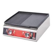 DRNDIZE-50 Επιφάνεια Ψησίματος - πλατό, Λείο/Ραβδωτό, 50x50x20cm, 3500W, DRN
