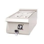 DRNSBE-4060 Ηλεκτρικό Bain Marie, χωρητικότητα GN2/3, με βρύση, 40x63x30cm, 1KW, DRN