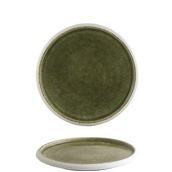 IS.050131 Πιάτο ρηχό φ26xΥ2.8cm, λαδί, reactive σμάλτο, σειρά SAVEURS, In Situ