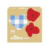 1100330152 Πακέτο 100 Χαρτοπετσέτες Mega, 33x33, καρό μπλε, ENDLESS