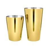 LUMIAN.0181 Shaker Yoka Boston Tin 28oz/17.5cm & Half Tin 18oz/12.5cm, INOX 18/10, χρυσό, Lumian
