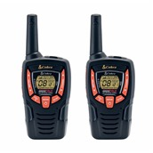 AM-845B Σετ 2 Walkie Talkie, 8 κανάλια, κωδικοποίηση 121 συνδιασμών, δόνηση, έως 10km, COBRA