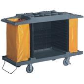 TRL-15054 Τρόλλευ καθαρισμού καμαριέρας, 150x54xΥ120cm, πλαστικό με 2 σάκους