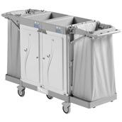 HOTEL-850S Καρότσι καμαριέρας πλαστικό (χωρίς σάκους) με 2 πόρτες, TTS Cleaning
