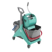 TTS.00066161VE Καρότσι NICKITA TEC σφουγγαρίσματος με πρέσσα ρολό & 2 κουβάδες 25lt, TTS Cleaning