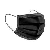 FACEMASK/BK Μάσκα προστασίας μίας χρήσης, 3 στρώσεων, μαύρη, medical, 17.5x9.5cm