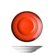 GA-B-PP-26 Πιάτο Pasta πορσελάνης 26cm, πορτοκαλο-κόκκινο, GALAXY-B, LUKANDA